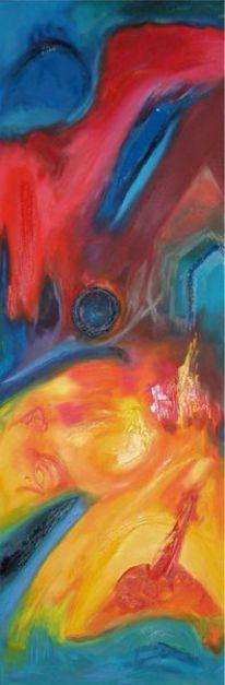 Ölmalerei, Leinen, Malerei, Abstrakt