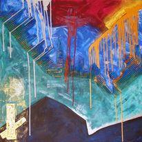 Acrylmalerei, Eldorado, Malerei, Abstrakt