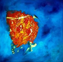 Schatzinsel, Acrylmalerei, Malerei, Abstrakt