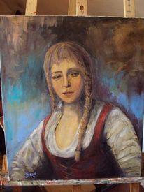 Mädchen, Malerei, Menschen, Klassisch