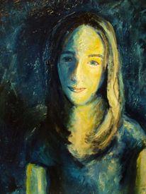 Malerei, Melancholie, Blau