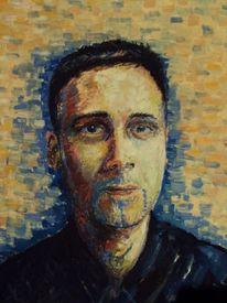 Malerei, Portrait, Selbstportrait
