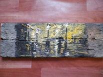 Gelb, Holz, Nacht, Ufer
