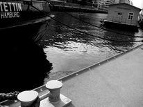 Hafen, Schwarz weiß, Fotografie, Hamburg