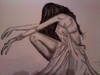 Frau, Schwarz weiß, Zeichnungen, Menschen