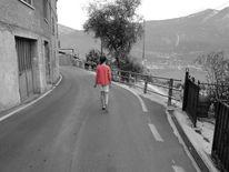 Italien, Weiß, Mädchen, Rot schwarz