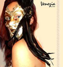 Venedig, Menschen, Maske, Portrait