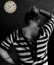 Uhr, Schwarz weiß, Fotografie, Zeit