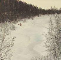 Wald, Pyrenees, Powder skiing, Schnee