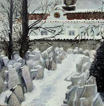 Prag, Friedhof, Art coach international, Winter