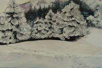 Wald, Pyrenees, Kinder, Schnee