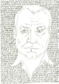 Handschrift, Gesicht, Lineare, Zeichnung