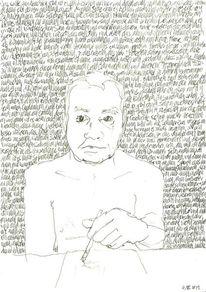 Gesicht, Schrift als struktur, Handschrift, Reihe