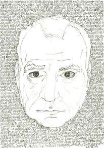 Portrait, Kopf, Gesicht, Schwarz weiß