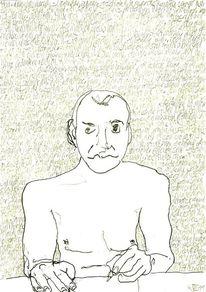 Schrift, Gesicht, Schwarz weiß, Portrait