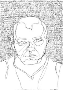 Lineare, Portrait, Schrift als struktur, Gesicht