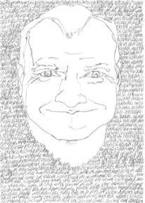 Selbstportrait, Schwarz weiß, Reihe, Bleistiftzeichnung