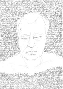 Handschrift, Lineare, Gesicht, Schrift als struktur