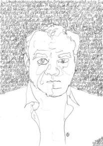 Lineare, Schrift als struktur, Portrait, Selbstportrait