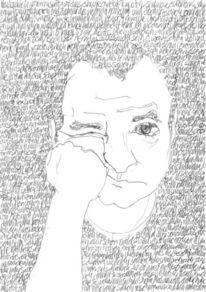 Gesicht, Reihe, Portrait, Lineare