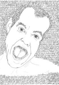 Bleistiftzeichnung, Selbstportrait, Reihe, Täglich