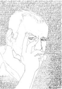 Schwarz weiß, Gesicht, Schrift, Portrait