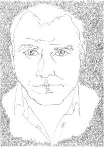 Selbstportrait, Schwarz weiß, Reihe, Struktur