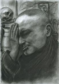 Denker, Muse, Portrait, Besinnlich