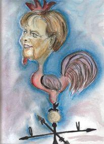 Wind, Merkel, Hahn, Wetterhahn