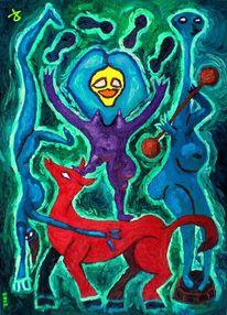 Rodareiks, Jongleuse, Zirkuspferd, Einhandstand