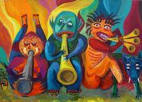Trompete, Stadtwurst, Flöte, Puntschkrapfen