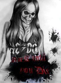 Tod, Acdc, Felsen, Zeichnungen