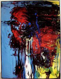 Weiß, Expressionismus, Verlaufen, Blau