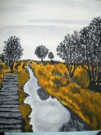 Acrylmalerei, Moor, Malerei