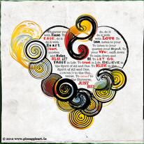 Philosophe, Postkarte, Packpapier, Farben