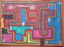 Mandala, Malerei, Surreal, Weg