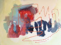 Illusion, Linie, Rot, Malerei