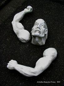 Steinfigur, Menschen, Gartenfigur, Kopf