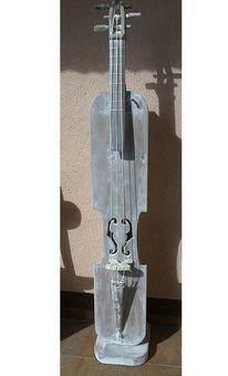 Gitarre, Cd plattenständer, Holzskulptur, Regal