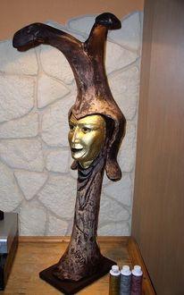 Maske, Skulptur, Nachtlämpchen, Mund