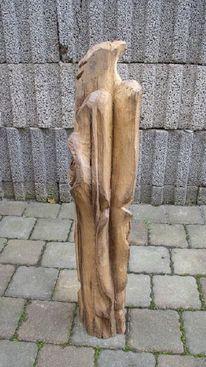 Vogel, Balken, Holzvogel, Skulptur