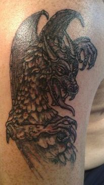 Smok, Drache, Tattoo,