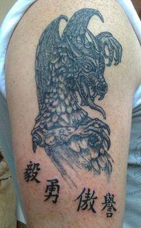 Stärke, Buchstaben, Mut, Tattoo