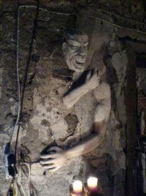 Figur, Skulptur, Betonskulptur, Wandskulptur