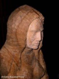 Kopf, Holzskulptur, Schnitzkunst, Skulptur