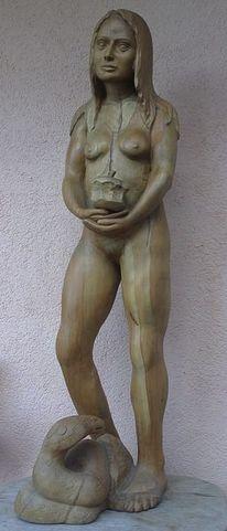 Skulptur, Akt, Apfel, Figur