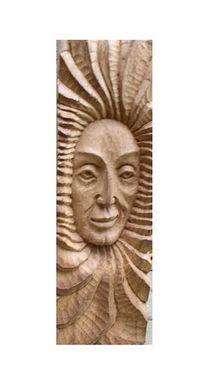 Sonne, Balken, Skulptur, Kopfskulptur