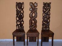 Antike, Antike stühle, Kopf, Skulptur
