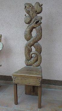 Schnitzkunst, Antike stühle, Designstuhl, Holzstuhl