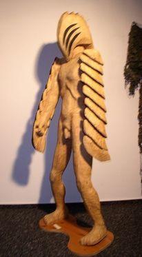 Skulptur, Holzskulptur, Holzfigur, Engel